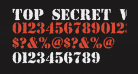 Top Secret Without Lines Bold