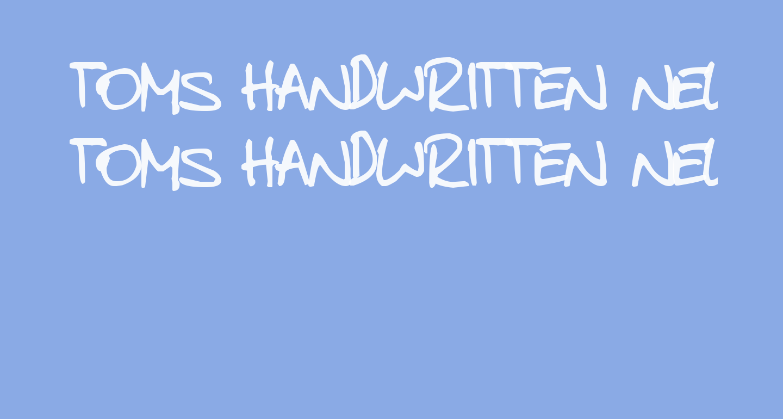 toms handwritten new