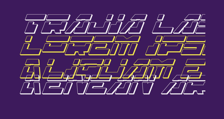 Trajia Laser Italic 3D