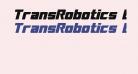 TransRobotics Bold Italic