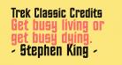 Trek Classic Credits