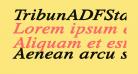 TribunADFStd-ExtraBoldItalic