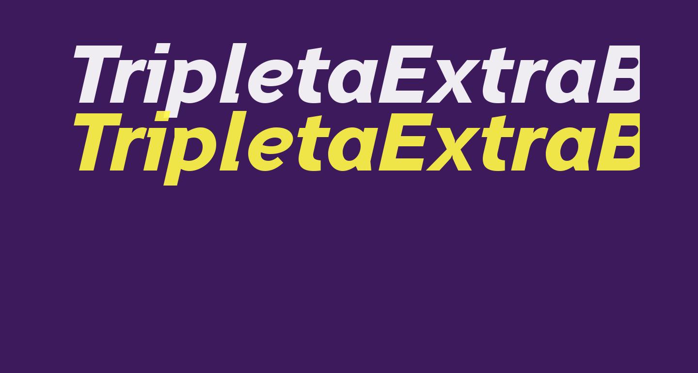 TripletaExtraBold-Italic