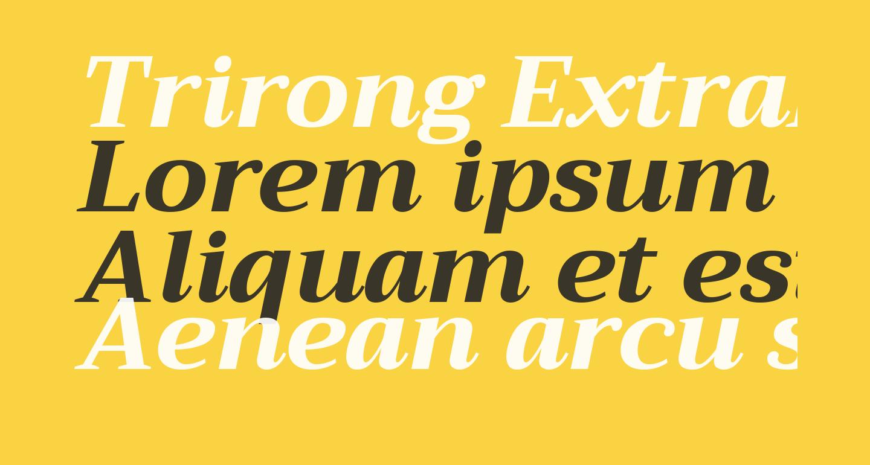Trirong ExtraBold Italic