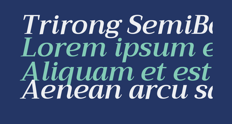 Trirong SemiBold Italic