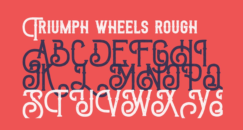 Triumph wheels rough