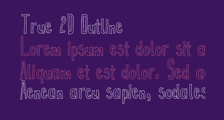 True 2D Outline