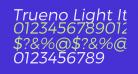 Trueno Light Italic