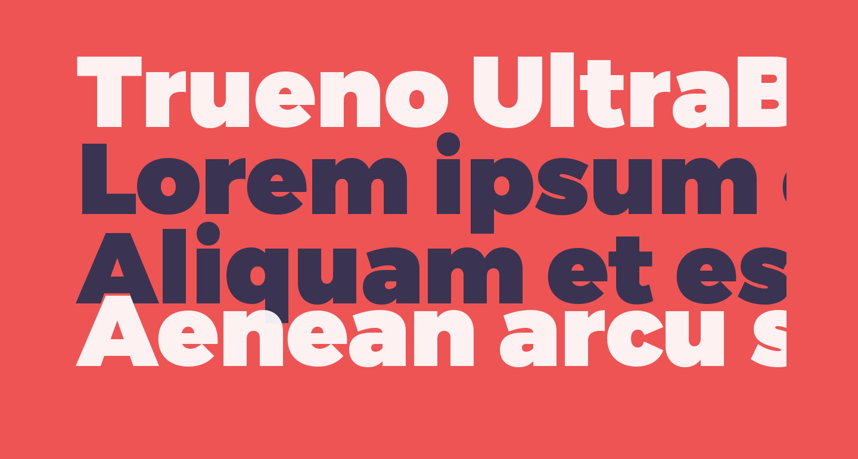 Trueno UltraBlack