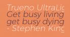Trueno UltraLight Italic