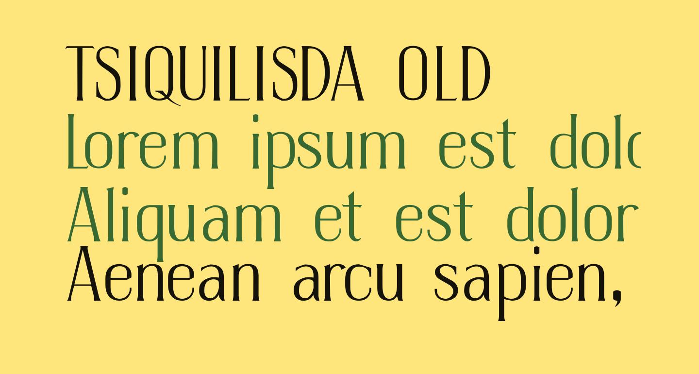 TSIQUILISDA OLD