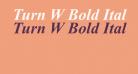 Turn W Bold Italic