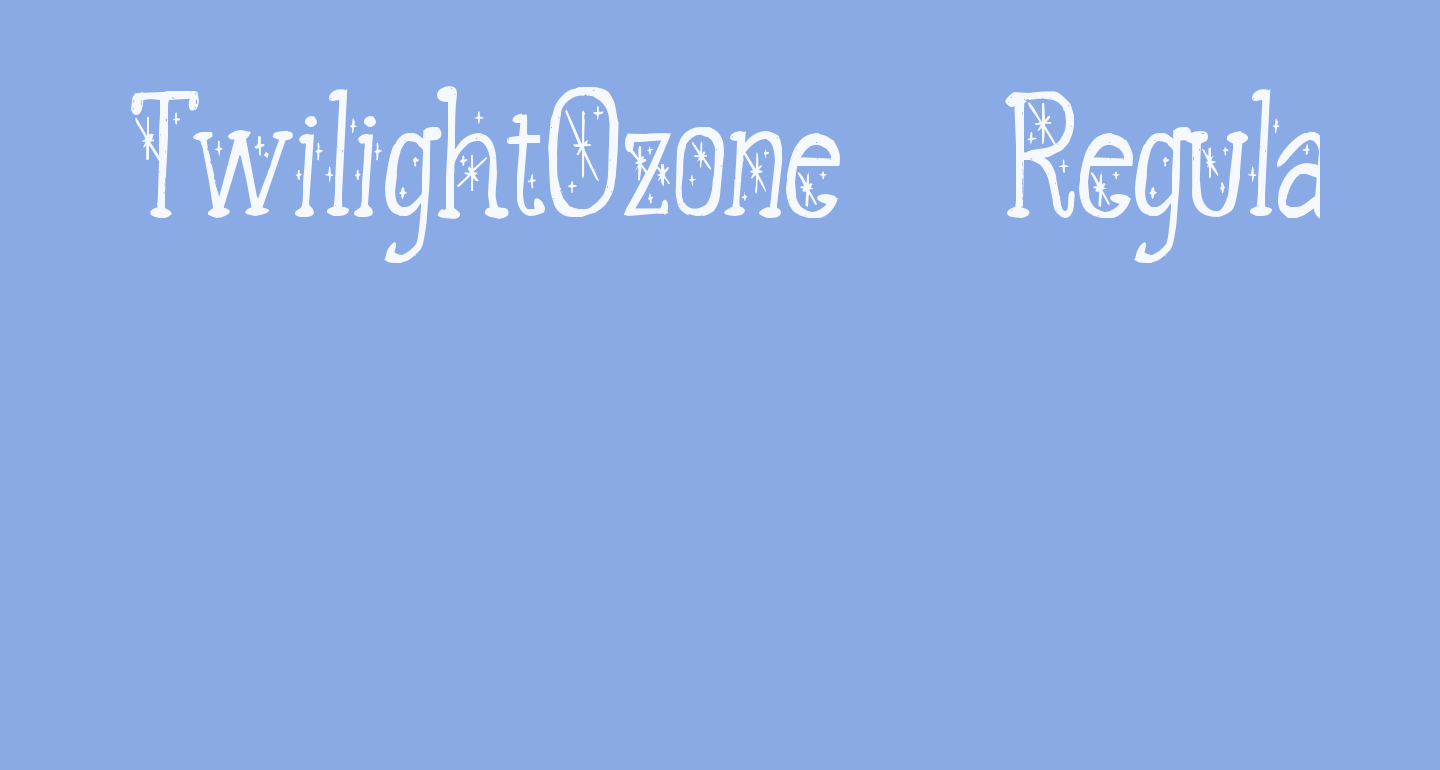 TwilightOzone-Regular