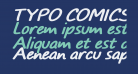 TYPO COMICS Bold Italic DEMO