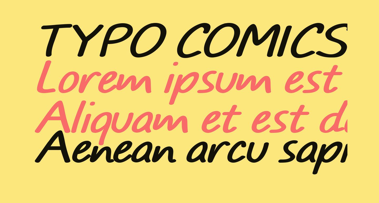 TYPO COMICS Italic DEMO