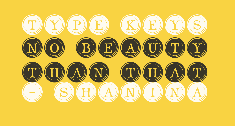 Type Keys Filled