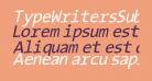TypeWritersSubstitute-Oblique