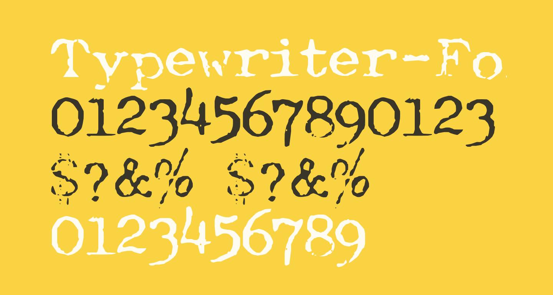 Typewriter-Font [Royal 200]