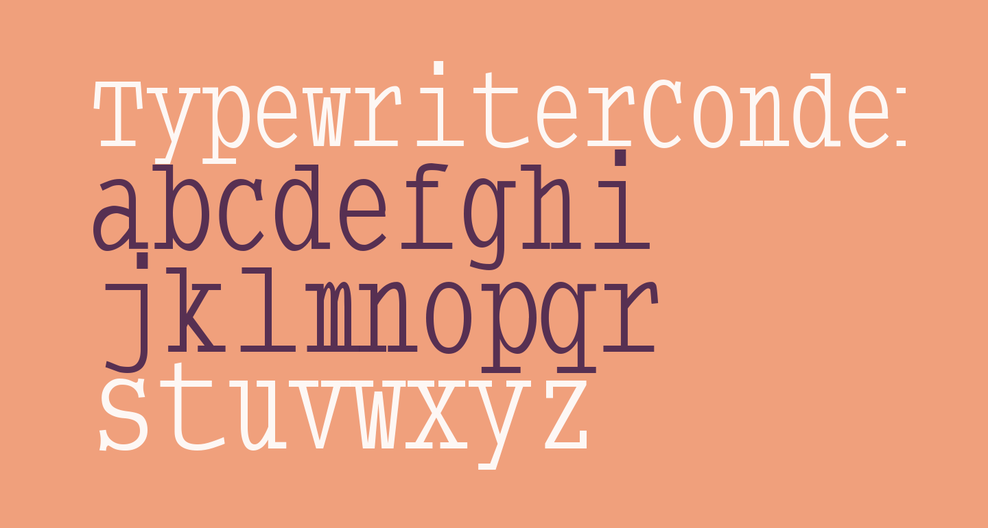 TypewriterCondensed