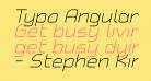 Typo Angular Rounded Light Demo Italic