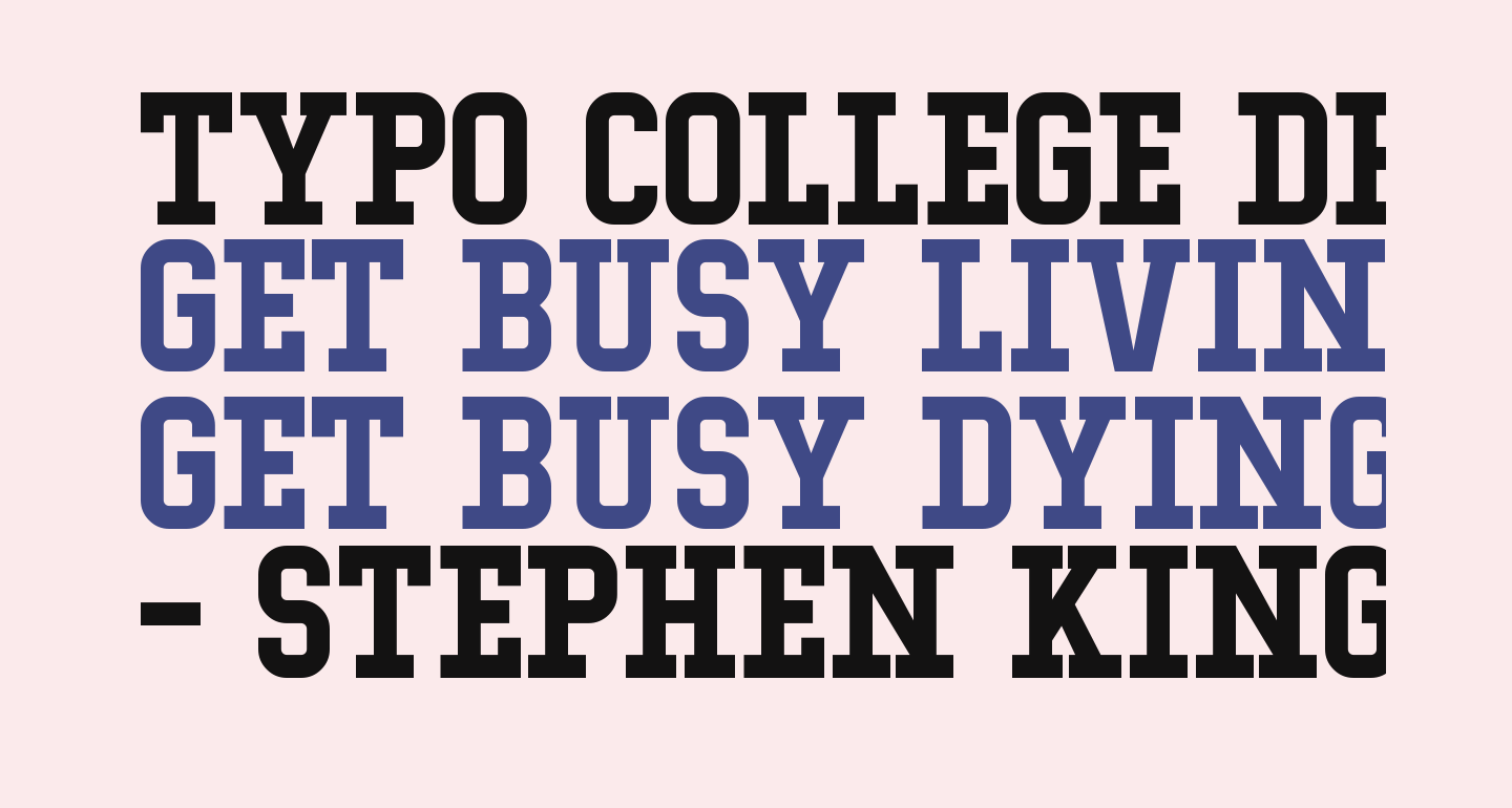 Typo College Demo