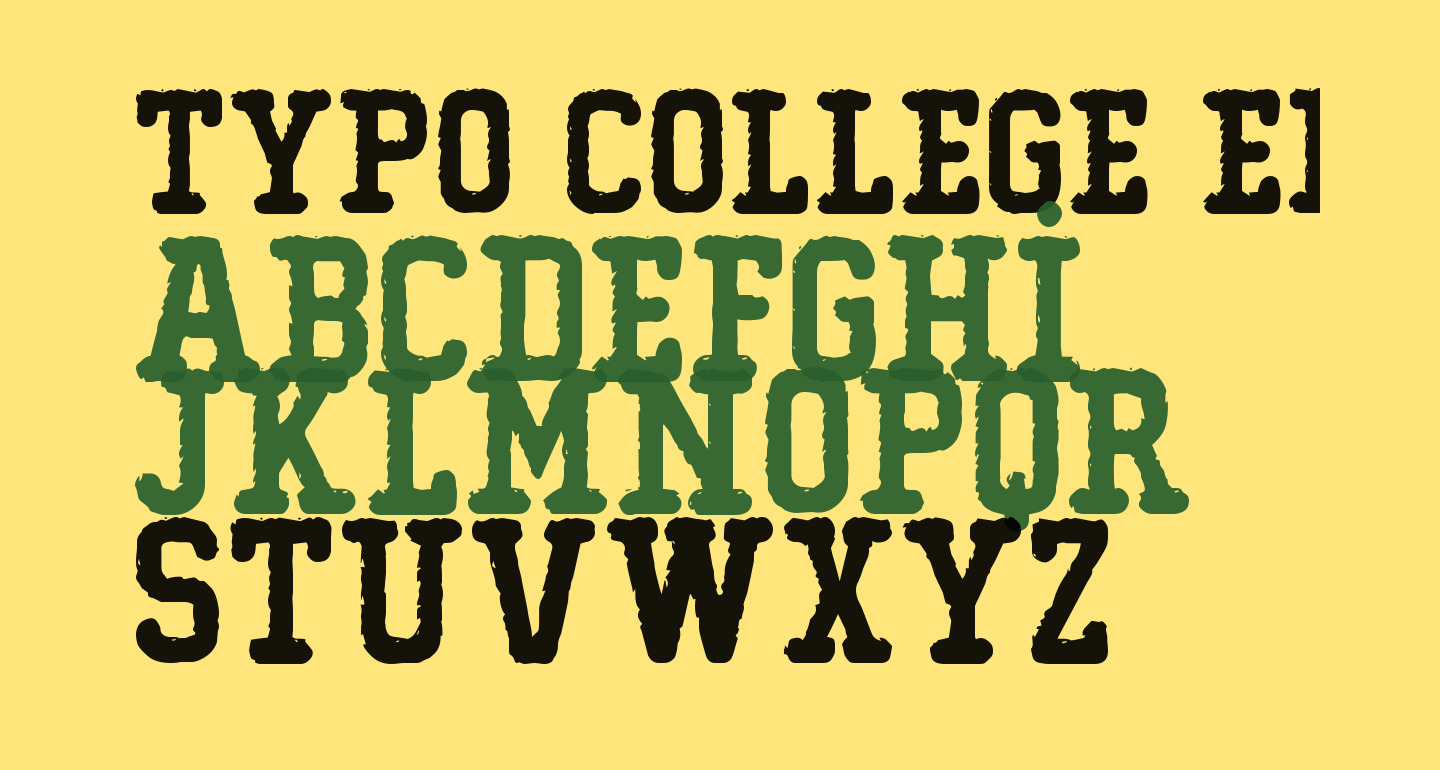 Typo College Eroded Demo