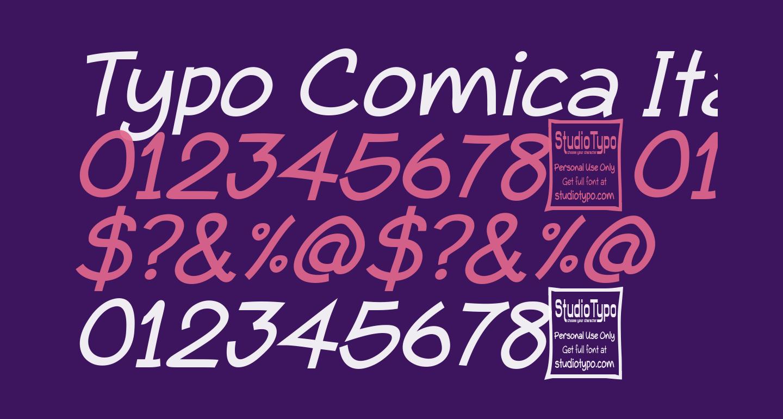 Typo Comica Italic