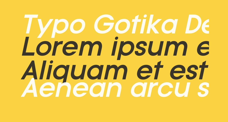 Typo Gotika Demo Bold Italic