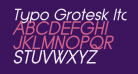 Typo Grotesk Italic