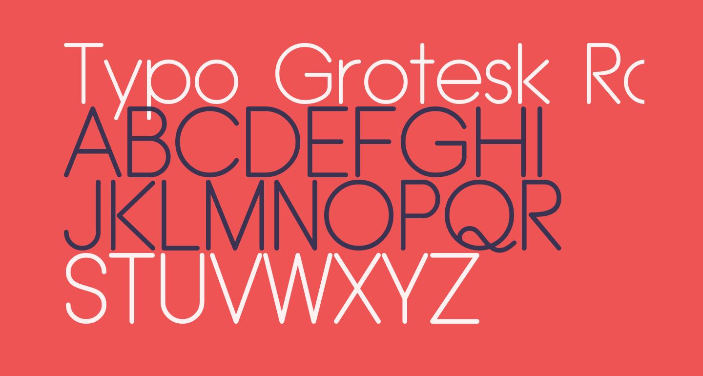 Typo Grotesk Rounded Light