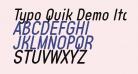 Typo Quik Demo Italic