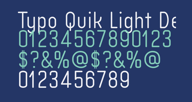 Typo Quik Light Demo