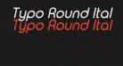 Typo Round Italic Demo