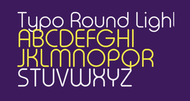 Typo Round Light Demo