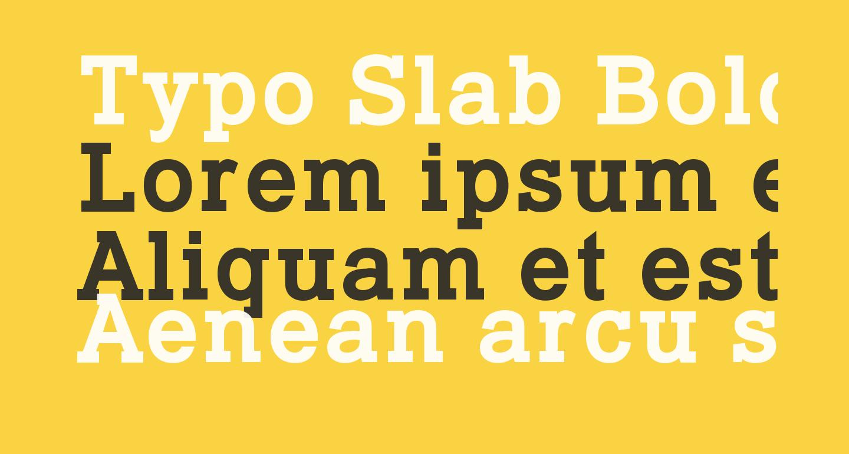 Typo Slab Bold