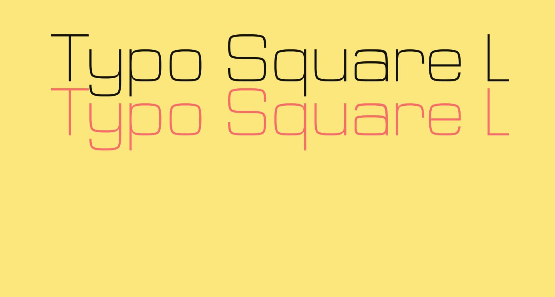 Typo Square Light Demo
