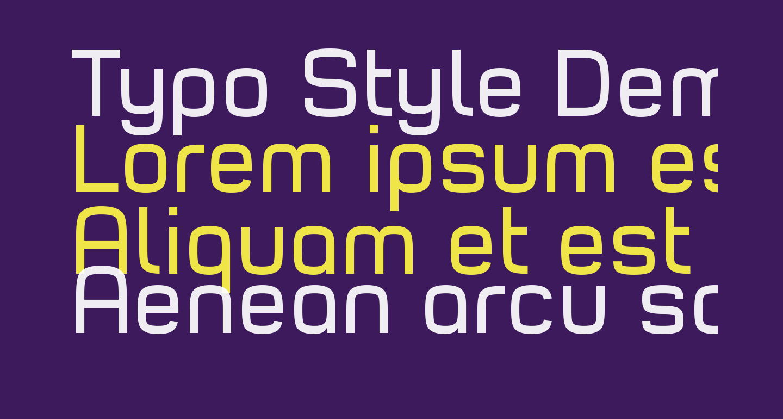 Typo Style Demo