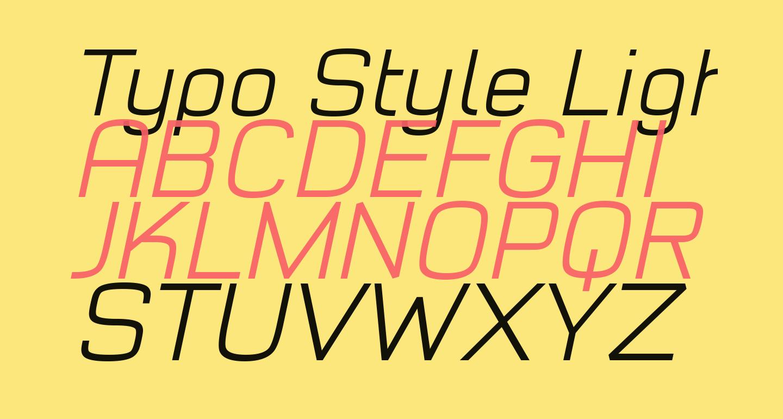 Typo Style Light Demo Italic