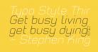 Typo Style Thin Demo Italic
