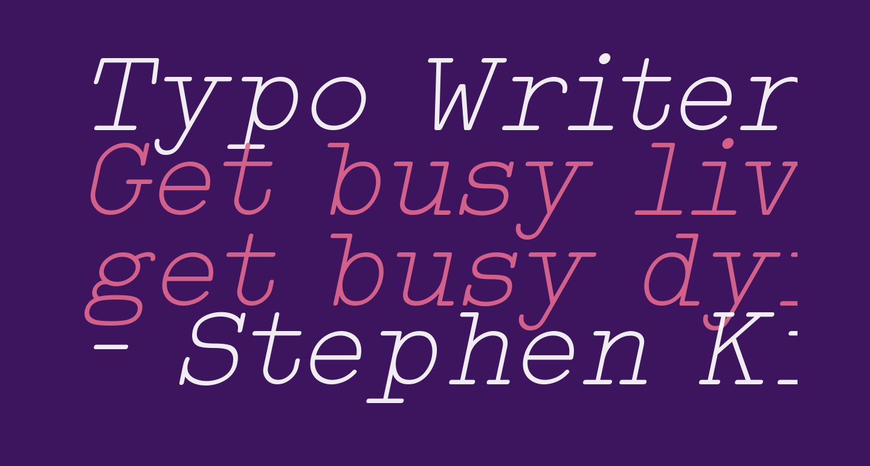 Typo Writer Light Demo Italic