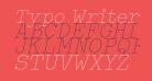 Typo Writer Thin Demo Italic