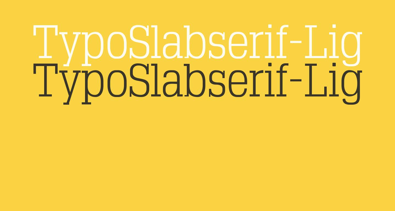 TypoSlabserif-Light