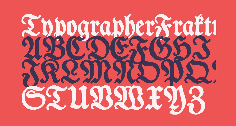 TypographerFraktur Bold