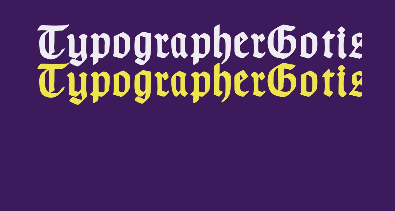 TypographerGotisch A Bold