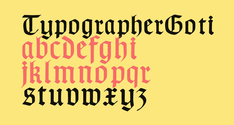 TypographerGotisch B