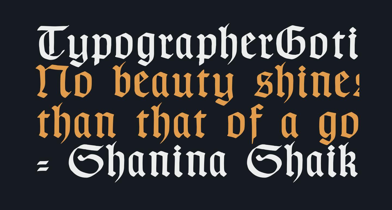 TypographerGotisch C
