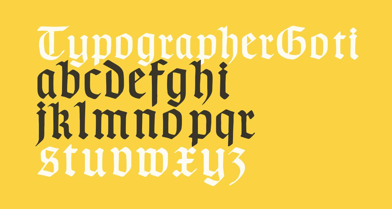 TypographerGotisch D