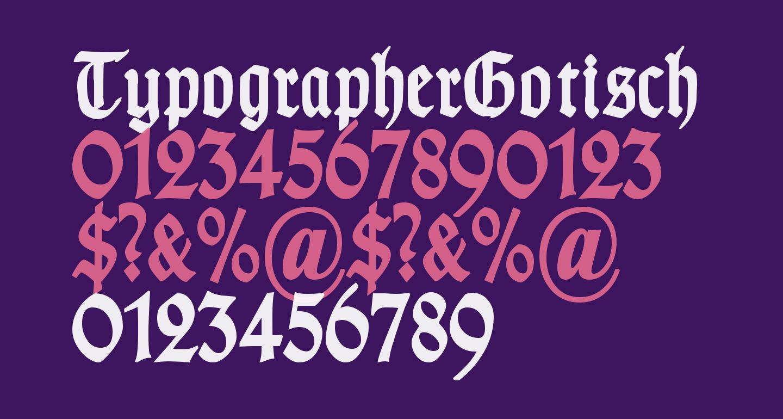 TypographerGotisch Schmal Bold