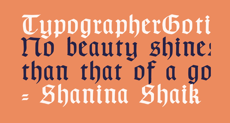 TypographerGotischA