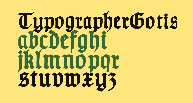 TypographerGotischC-Bold